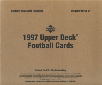 1997 Upper Deck Football Blister Box