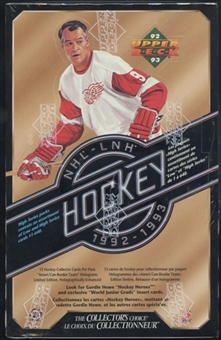 1992/93 Upper Deck Series 2 Hockey Canadian Retail Box