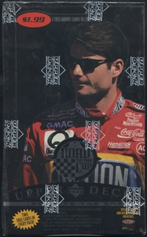 1996 Upper Deck Road To The Cup Racing Prepriced Box