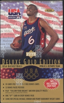 1996/97 Upper Deck USA Gold Edition Basketball Retail Box