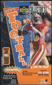 1996 Upper Deck Collector's Choice Football Prepriced Box