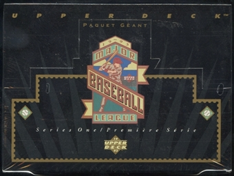 1993 Upper Deck Series 1 Baseball English/French Jumbo Box
