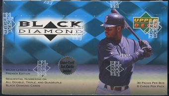 1999 Upper Deck Black Diamond Baseball Retail Box