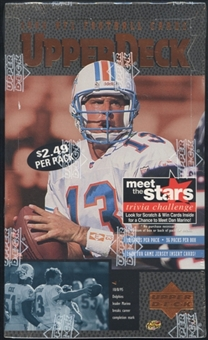 1996 Upper Deck Football Prepriced Box