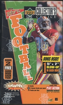 1996 Upper Deck Collector's Choice Football Retail Box