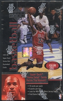 1997/98 Upper Deck Series 1 Basketball Blaster Box