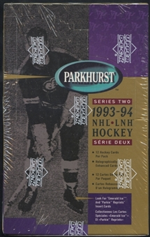 1993/94 Parkhurst Series 2 Canadian Hockey Retail Box