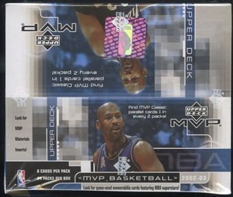 2002/03 Upper Deck MVP Basketball Retail Box