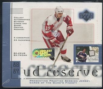 2000/01 Upper Deck Reserve Hockey Prepriced Box