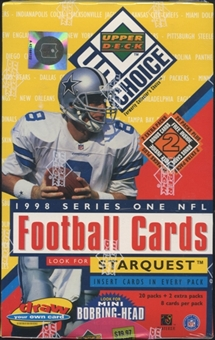 1998 Upper Deck Choice Series 1 Football Blaster Box