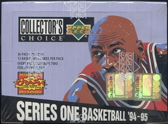 1994/95 Upper Deck Collector's Choice Series 1 Basketball 36-Pack Box (13 Cards per Pack)