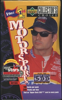 1997 Upper Deck Collector's Choice Racing Retail Box