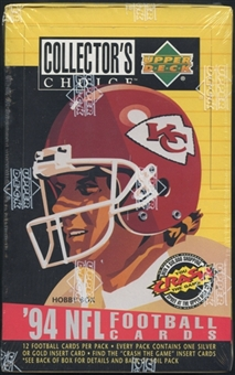 1994 Upper Deck Collector's Choice Football Hobby Box