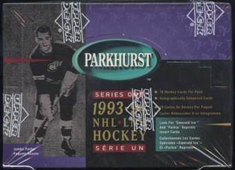 1993/94 Parkhurst Series 1 Hockey Jumbo Box