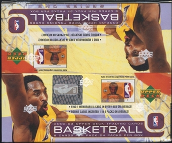 2002/03 Upper Deck Series 1 Basketball Retail Box