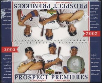 2002 Upper Deck Prospect Premieres Baseball Retail Box