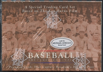 1994 Upper Deck The American Epic Baseball Set Michael Jordan Bonus Card
