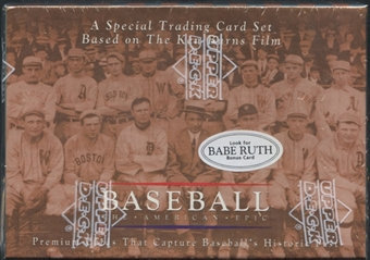 1994 Upper Deck The American Epic Baseball Set Babe Ruth Bonus Card