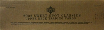 2002 Upper Deck Sweet Spot Classics Baseball 16-Box Hobby Case
