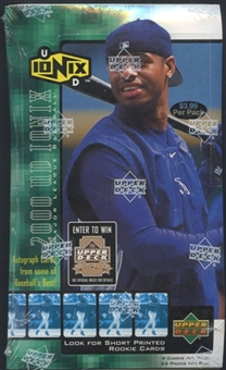 2000 Upper Deck Ionix Baseball Prepriced Box
