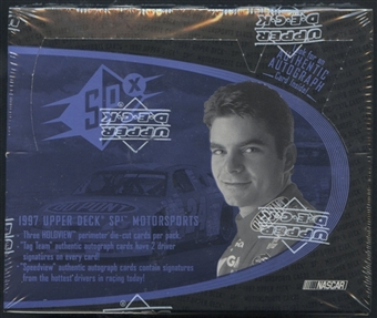 1997 Upper Deck SPX Racing Hobby Box