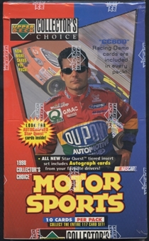 1998 Upper Deck Collector's Choice Racing Retail Box