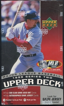 1999 Upper Deck Series 2 Baseball Retail Box