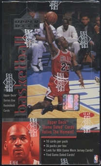 1997/98 Upper Deck Series 1 Basketball Prepriced 36 Pack Lot