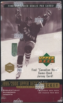 1999/00 Upper Deck Series 2 Hockey Retail Box