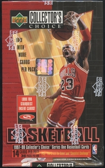 1997/98 Upper Deck Collector's Choice Series 1 Basketball Retail Box