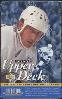 1995/96 Upper Deck Series 1 Hockey Retail Box