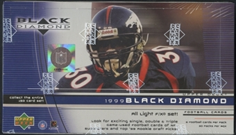 1999 Upper Deck Black Diamond Football Retail Box