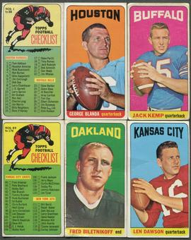 1965 Topps Football Partial Set (GOOD) Missing Namath
