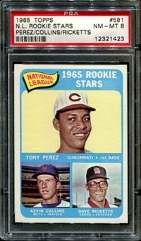 1965 Topps Baseball Tony Perez Rookie PSA 8 (NM-MT) *1423