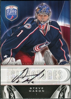 2009/10 Upper Deck Be A Player Signatures #SSM Steve Mason Autograph