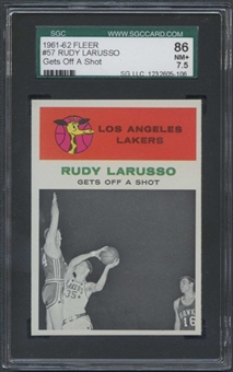 1961/62 Fleer Basketball #57 Rudy Larusso IA SGC 86 (NM+ 7.5) *5106