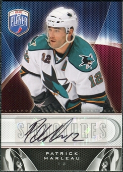 2009/10 Upper Deck Be A Player Signatures #SPT Patrick Marleau Autograph