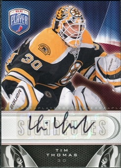 2009/10 Upper Deck Be A Player Signatures #STT Tim Thomas Autograph