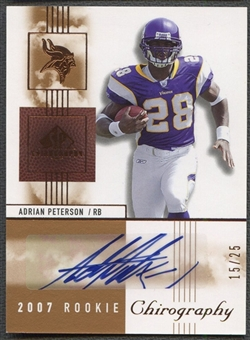 2007 SP Chirography #101 Adrian Peterson Rookie Signatures Gold Auto #15/25
