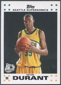 2007/08 Topps Rookie Set #2 Kevin Durant Rookie