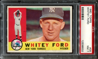 1960 Topps Baseball #35 Whitey Ford PSA 7 (NM) *6532