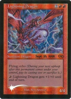 Magic the Gathering Promo Lightning Dragon - PRERELEASE Foil SIGNED BY RON SPENCER