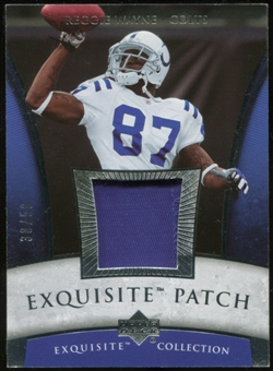 2006 Upper Deck Exquisite Collection Patch Silver #EPWA Reggie Wayne 38/50