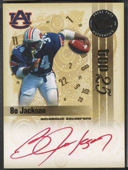2008 Press Pass Legends Bowl Edition #BJ Bo Jackson Top 25 Auto #14/15