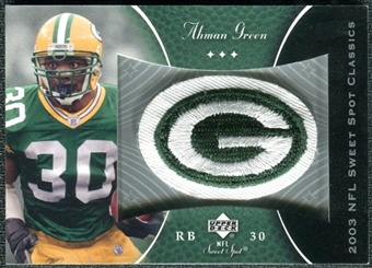 2003 Upper Deck Sweet Spot Classics Patch #PAG Ahman Green