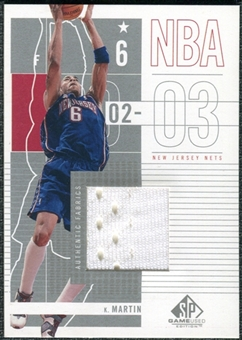 2002/03 Upper Deck SP Game Used #62 Kenyon Martin Jersey