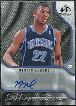 2009/10 Upper Deck SP Game Used SIGnificance #SMA Morris Almond Autograph