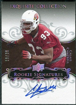 2008 Exquisite Collection Silver Holofoil #102 Calais Campbell Autograph /30