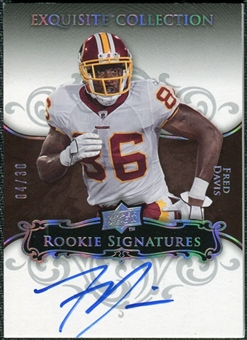 2008 Exquisite Collection Silver Holofoil #124 Fred Davis Autograph /30