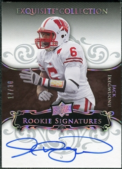 2008 Exquisite Collection Silver Holofoil #126 Jack Ikegwuonu Autograph /30